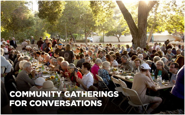 Community gatherings for conversations
