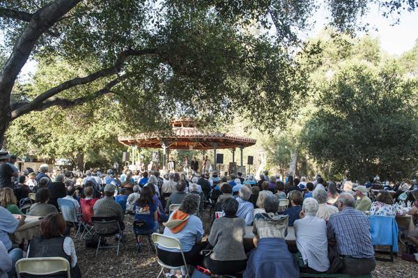 Hudson Shad performs at the 68th Ojai Music Festival at Libbey Park Gazebo on June 13, 2014 in Ojai, California.