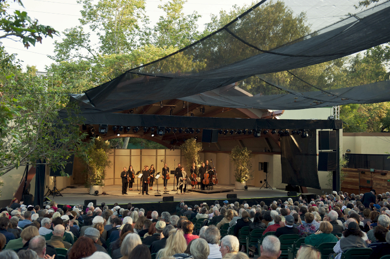 Australian Chamber Orchestra featuring Dawn Upshaw performs at Libbey Bowl on June 12, 2011 in Ojai, California.