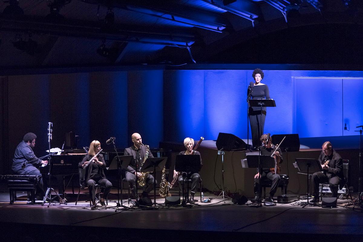 "Ojai Music Festival - ""Josephine Baker:  A Portrait"" by Tyshawn Sorey - Julia Bullock, soprano; ICE & Tyshawn Sorey 6/11/2016 Libbey Bowl"