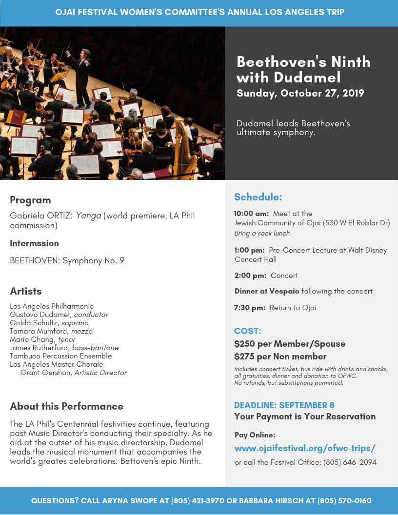 Walt Disney Hall Concert Trips - Ojai Music Festival